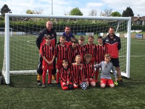 U10 Eagles with coaches Lee Edwards, Darren Stacey and Ian Newrick